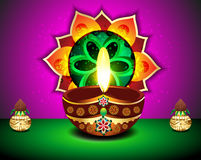 Diwali Festival Background with kalash. Vector illustration Royalty Free Stock Photography