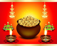 Diwali Festival Background  with money Royalty Free Stock Photo