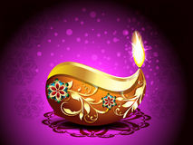 Diwali festival Background with Rangoli Stock Photography