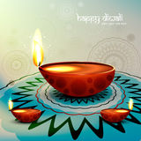 Diwali festival with beautiful diya colorful backg Royalty Free Stock Photo