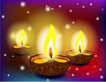 Diwali festival with beautiful lamps. Stock Photography