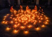 Diwali-Festival bei Indien lizenzfreie stockbilder