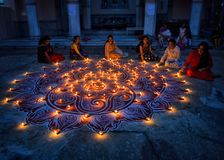 Diwali-Festival bei Indien stockfoto