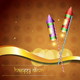 Diwali festival cracker. Hindu festival diwali crackers vector illustration Stock Image
