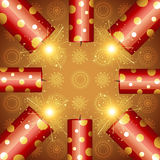 Diwali festival cracker. Stylish background of diwali crackers Stock Photography