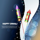 Diwali festival crackers. Vector diwali festival crackers illustrations Royalty Free Stock Photography