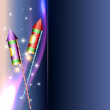 Diwali festival crackers. Beautiful diwali crackers with space for your text Stock Photo
