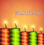 Diwali festival crackers celebration colorful background Stock Photos