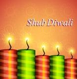 Diwali festival crackers celebration colorful background.  Stock Photos