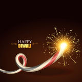 Diwali festival crackers. Vector diwali festival crackers background Stock Image