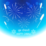 Diwali festival crackers. Vector happy diwali fireworks background Royalty Free Stock Photo