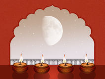 Diwali Festival. Cute illustration of candles for Diwali Festival Royalty Free Stock Image