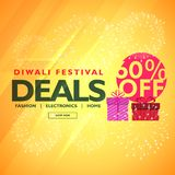 Diwali festival deals and offers with gift box. Vector Stock Photography