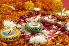 Diwali, festival degli indicatori luminosi Fotografie Stock Libere da Diritti