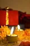Diwali, festival degli indicatori luminosi indiano Fotografia Stock