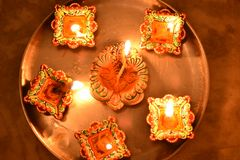 Diwali festival. Lighting and decoration Stock Image