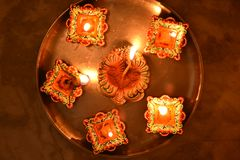 Diwali festival. Lighting and decoration Royalty Free Stock Photos
