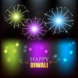 Diwali festival fireworks. Colorful diwali festival fireworks design Stock Photo