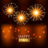Diwali festival fireworks. Vector diwali festival fireworks design Royalty Free Stock Images