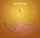 Diwali festival greeting card Royalty Free Stock Photography