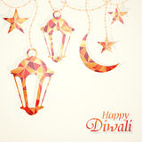 Diwali festival greeting card Stock Image