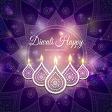 Diwali festival greeting Royalty Free Stock Image