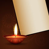 Diwali festival greeting Royalty Free Stock Photography