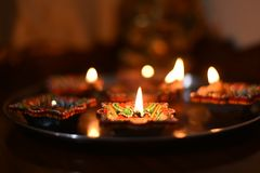 Diwali festival. Lighting and decoration Royalty Free Stock Photography