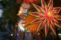 Diwali festival in Mumbai, India. Traditional lantern close ups on street side shops on the occasion of Diwali festival in Mumbai, India Royalty Free Stock Image