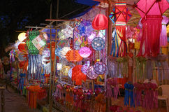 Diwali festival in Mumbai, India. Traditional lantern close ups on street side shops on the occasion of Diwali festival in Mumbai, India Royalty Free Stock Images