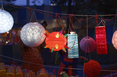 Diwali festival in Mumbai, India. Traditional lantern close ups on street side shops on the occasion of Diwali festival in Mumbai, India Royalty Free Stock Photos