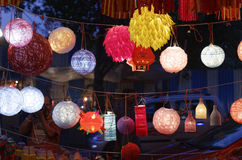 Diwali festival in Mumbai, India. Traditional lantern close ups on street side shops on the occasion of Diwali festival in Mumbai, India Royalty Free Stock Photography