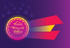Diwali Festival Offer Poster Design Layout Template. Creative Diwali Festival Offer Poster Design Layout Template stock illustration