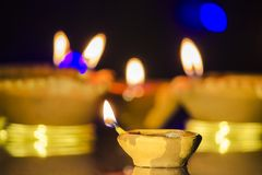 Diwali festivallampa royaltyfri bild