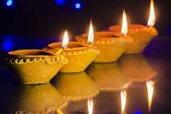 Diwali festivallampa Fotografering för Bildbyråer