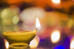 Diwali festivallampa royaltyfria bilder
