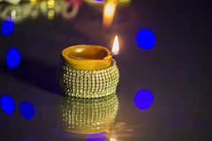 Diwali festivallampa arkivbilder