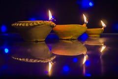 Diwali festivallampa Royaltyfri Foto