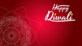 Diwali festiwalu kartka z pozdrowieniami, ulotka, tło szablon z mandala ilustracja wektor