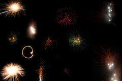 Diwali Fireworks. Colorful fireworks During Diwali night Stock Image
