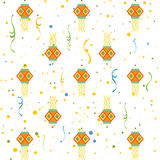 Diwali gift wrapping paper seamless pattern Stock Photo