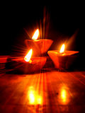 Diwali Glühen Stockfotografie
