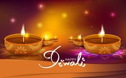 Diwali, gold light way sparkle shining festival celebration, oil candle lamp decoration, Hindu and muslim, perspective background royalty free illustration