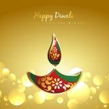 Diwali golden diya Stock Image