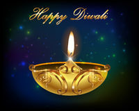Diwali graphic design, diya on Diwali Holiday background Stock Images