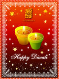 Diwali Greeting. With lights and decorative border