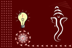 Diwali Greeting Stock Images