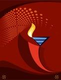 Diwali Greeting Stock Photo