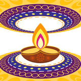 Diwali greeting background Royalty Free Stock Images