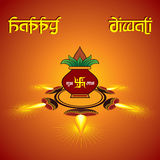 Diwali greeting background with heartbeat Stock Photo